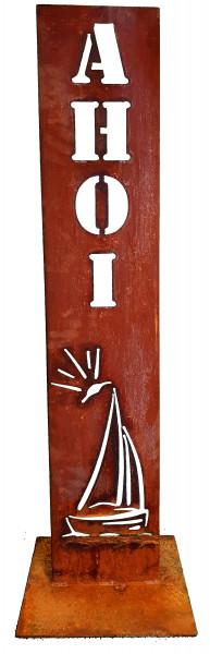 Schild AHOI Segelschiff