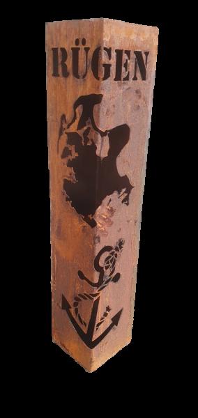 Säule Rügen Anker mit Fach
