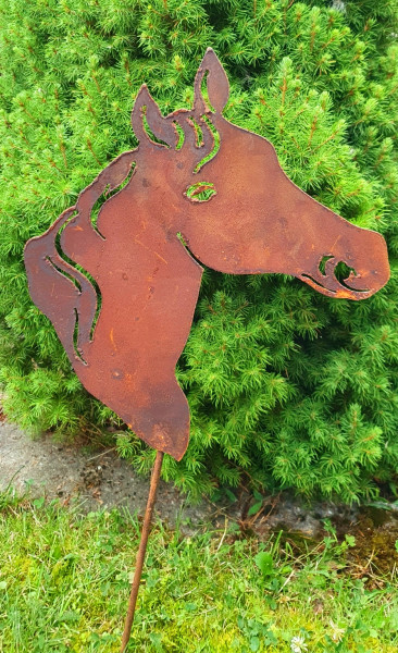 Gartenstecker Pferdekopf Typ 1