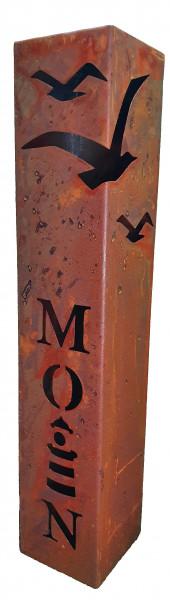 Säule Möwe, Moin mit Leuchtturm