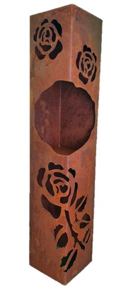 Säule Rosen mit Fach
