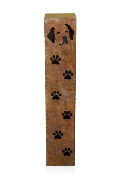 Säule Hundekopf Typ 1 mit Pfoten