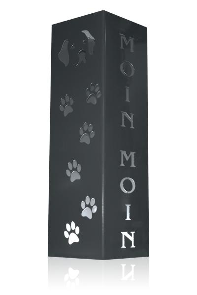 Säule Moin Moin Hundekopf Typ1 mit Pfoten