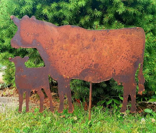 Gartenstecker Kühe